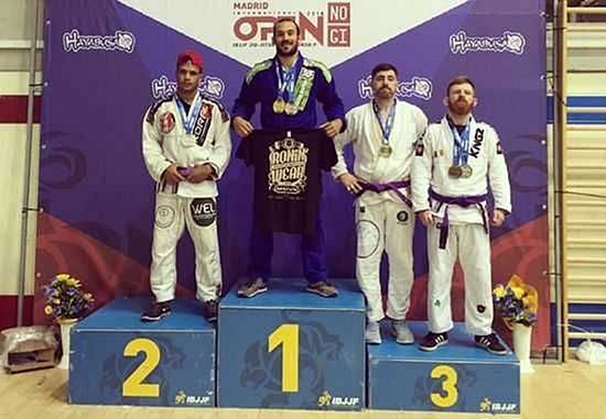 Alvaro Rodriguez Marquez absolute champion at Open IBJJF Madrid 2016