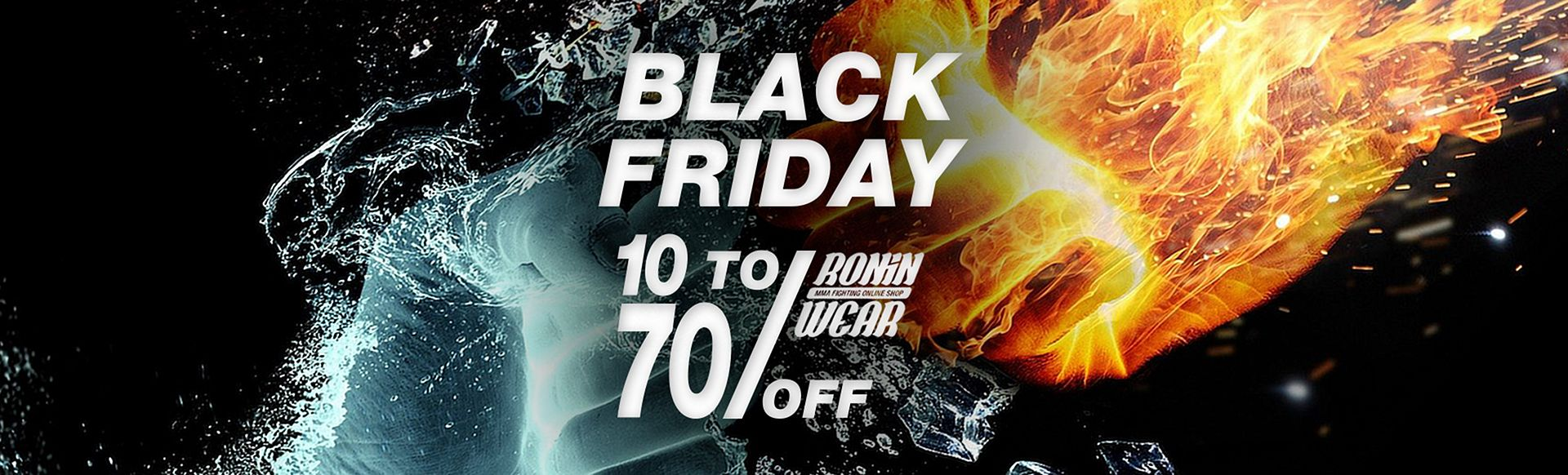 Black Friday Roninwear! 20% to 50% discount on selected products