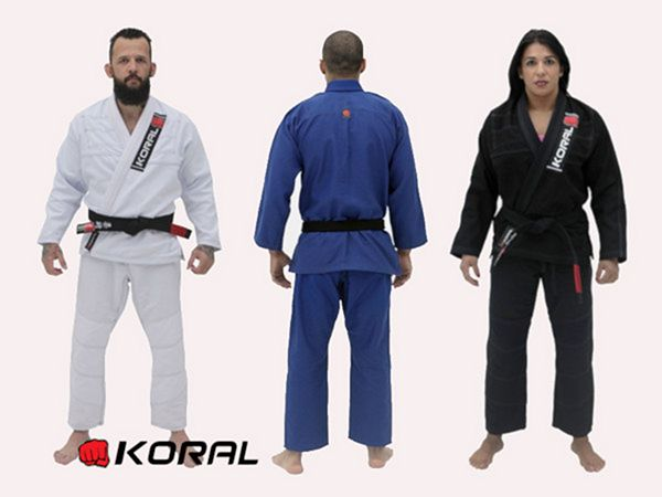 Koral One kimono bjj gi in white, blue and black colours