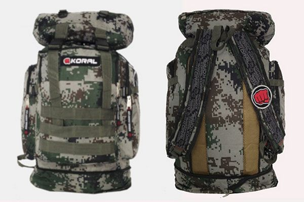 Camouflage backpacks from Koral