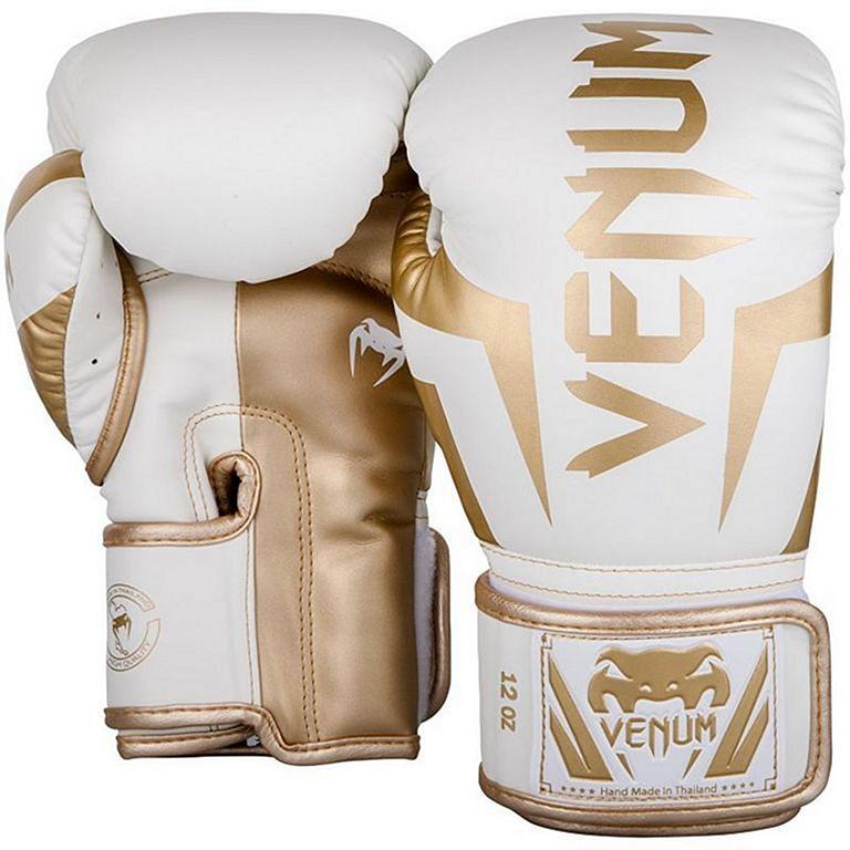 Venum Elite Boxing Gloves Grå Gold