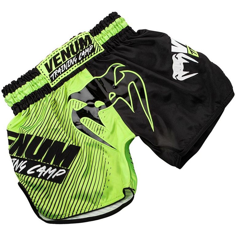 Venum Training Camp Muay Thai Shorts Negro-Verde